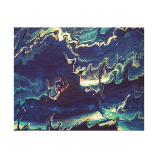 Fluid Blues II Canvas Print