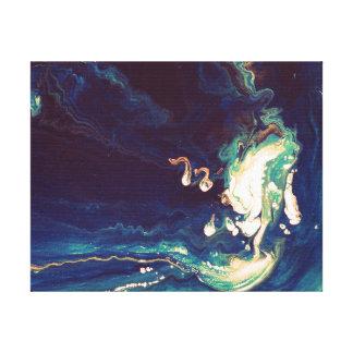Fluid Blues III Canvas Print