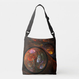 Fluid Connection Abstract Art Cross Body Tote Bag