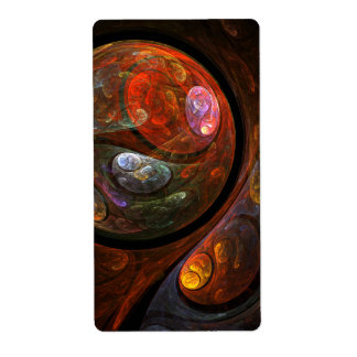 Fluid Connection Abstract Art Fractal Shipping Label