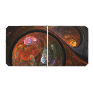 Fluid Connection Abstract Art Pong Table