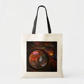 Fluid Connection Abstract Art Tote Bag