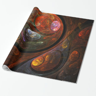 Fluid Connection Abstract Art Wrapping Paper