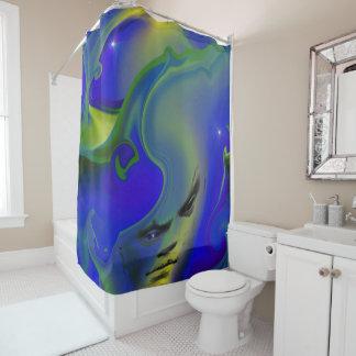 fluid man shower curtain