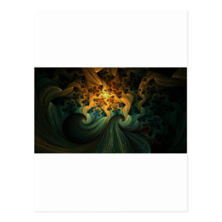 FLUID MOTION ABSTRACT POST CARD