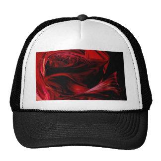 fluid red trucker hats