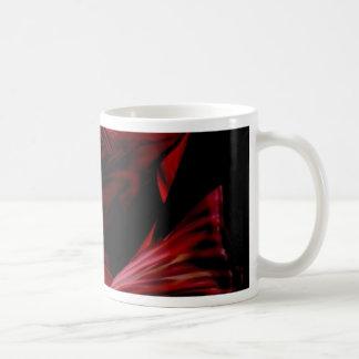 fluid red coffee mug