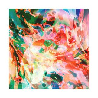 Fluid  River of colors Canvas Print
