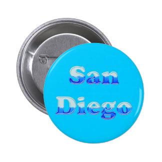 Fluid San Diego - On Aqua Pinback Button