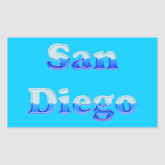 Fluid San Diego - On Aqua Rectangular Sticker