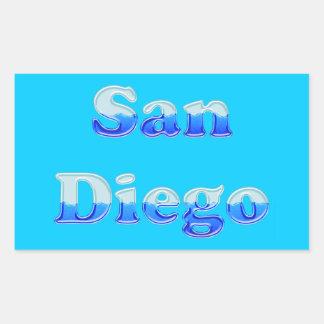 Fluid San Diego - On Aqua Rectangular Stickers