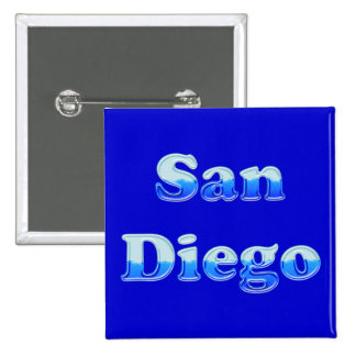 Fluid San Diego - On Blue Pinback Buttons