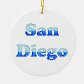 Fluid San Diego - On White Ceramic Ornament