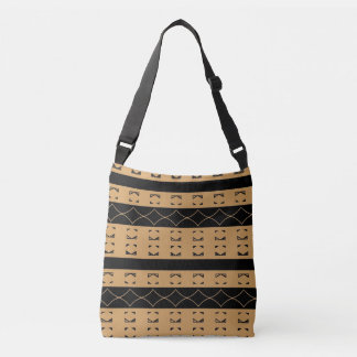 Fluidity and structure double sided. crossbody bag