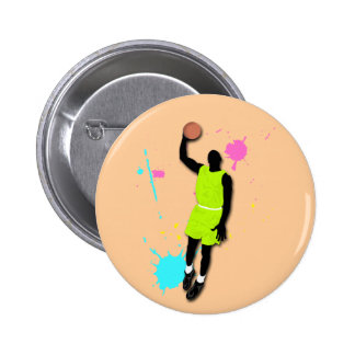 Fluo Basketball Player Button