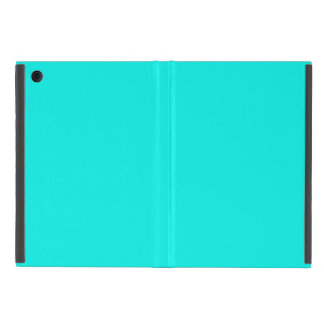 Fluorescent Aqua Teal Neon Blue Personalized Cover For iPad Mini