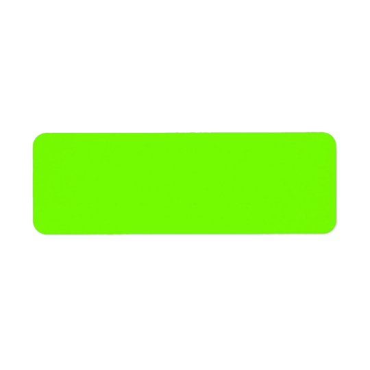 fluorescent -green background return address label