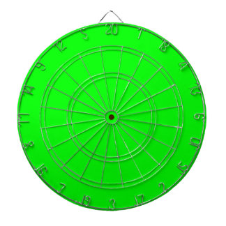 fluorescent green solid color dart boards