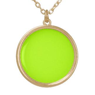 Fluorescent Green Solid Color Pendant