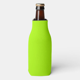 Fluorescent Green Solid Colour Bottle Cooler