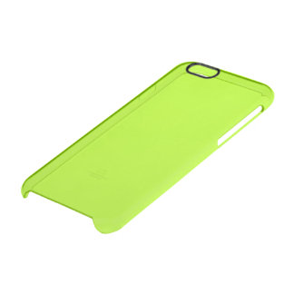 Fluorescent Green Solid Colour Clear iPhone 6/6S Case