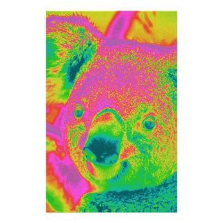 fluorescent koala bears stationery design
