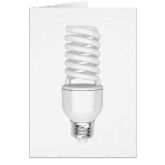 Fluorescent light bulb card