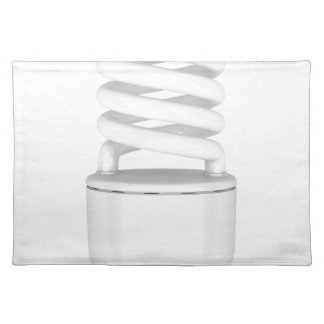 Fluorescent light bulb placemat