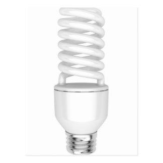 Fluorescent light bulb postcard