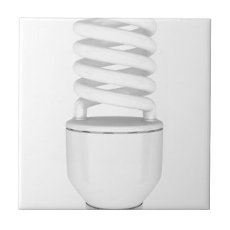 Fluorescent light bulb tile