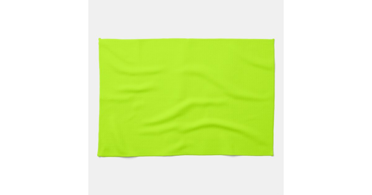 Fluorescent Lime Green Neon Yellow Personalised Kitchen