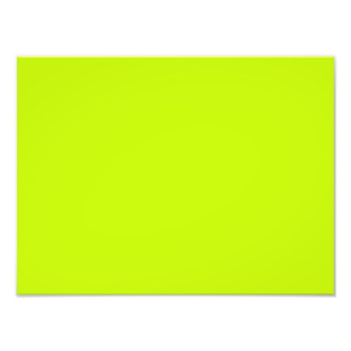 Fluorescent Lime Green Neon Yellow Personalized Photograph