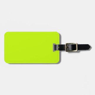 Fluorescent Lime Green Neon Yellow Personalized Tag For Bags