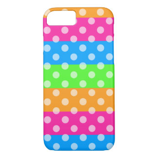 Fluorescent Rainbow with Polka Dots iPhone 8/7 Case