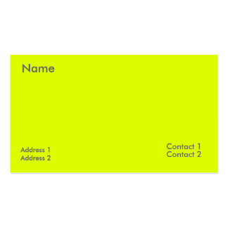 fluorescent yellow pack of standard business cards