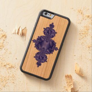 Flur de Fractal over wood Cherry iPhone 6 Bumper Case