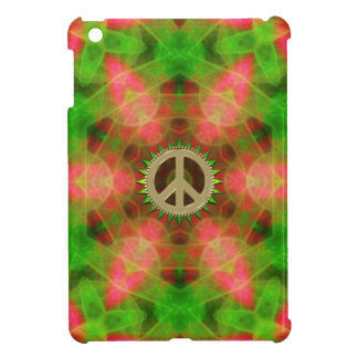 Fluro  Hexagon Gold Peace Sign iPad Mini Case