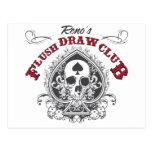 Flush Draw Club Post Card