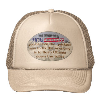 flush obama trucker hat