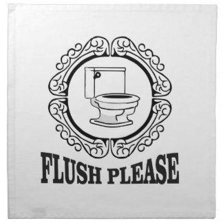 flush please sign round napkin
