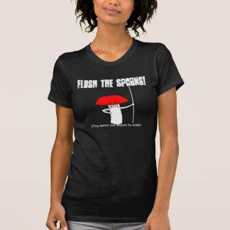 Flush the sporns! t-shirts