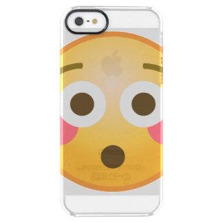 Flushed Emoji Clear iPhone SE/5/5s Case