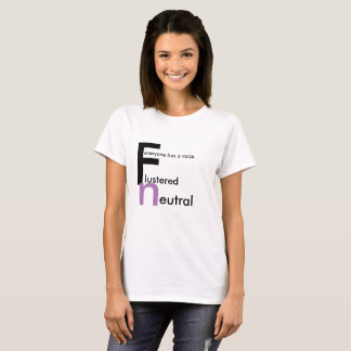 Flustered Neutral Womens T-Shirt