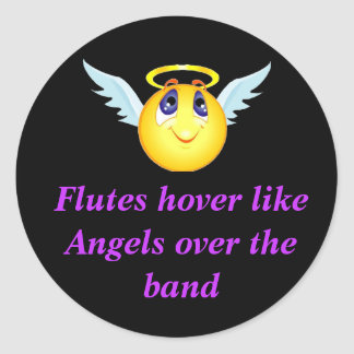 Flute Angel Sticker