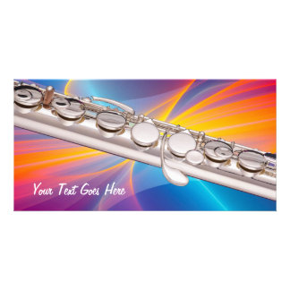 Flute Card for Flute Musician Add Your Own Text Personalised Photo Card