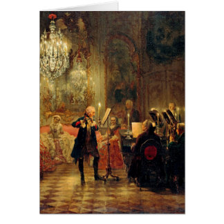 Flute Concert with Frederick the Great Greeting Card