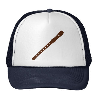Flute instrument mesh hats