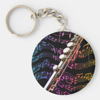 Flute is my Passion_ Key Ring