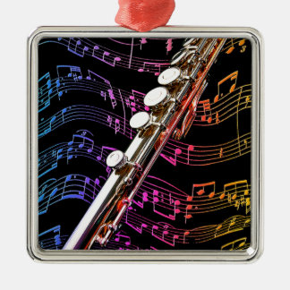 Flute is my Passion_ Metal Ornament