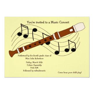 Flute Music Recital Invitation